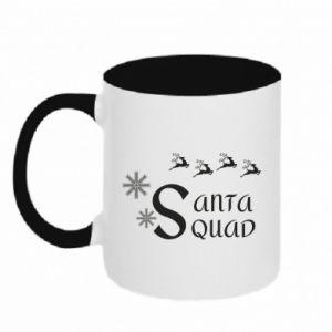 Two-toned mug Santa squad