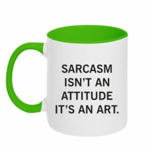 Kubek dwukolorowy Sarcasm isn't an attitude it's an art
