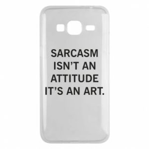 Etui na Samsung J3 2016 Sarcasm isn't an attitude it's an art