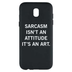 Etui na Samsung J5 2017 Sarcasm isn't an attitude it's an art