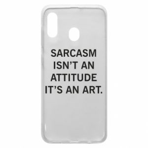 Etui na Samsung A30 Sarcasm isn't an attitude it's an art