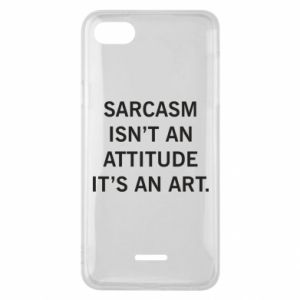 Etui na Xiaomi Redmi 6A Sarcasm isn't an attitude it's an art