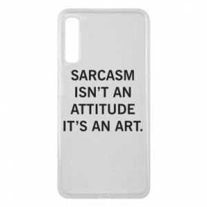 Etui na Samsung A7 2018 Sarcasm isn't an attitude it's an art