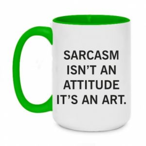 Kubek dwukolorowy 450ml Sarcasm isn't an attitude it's an art