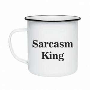 Kubek emaliowane Sarcasm king