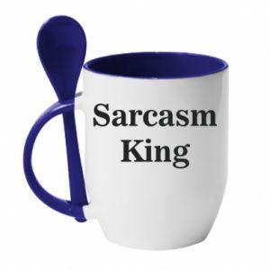 Kubek z ceramiczną łyżeczką Sarcasm king