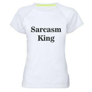 Damska koszulka sportowa Sarcasm king