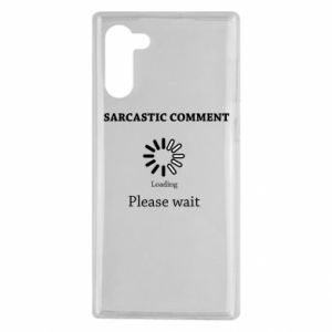 Etui na Samsung Note 10 Sarcastic comment