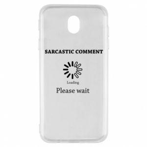 Etui na Samsung J7 2017 Sarcastic comment