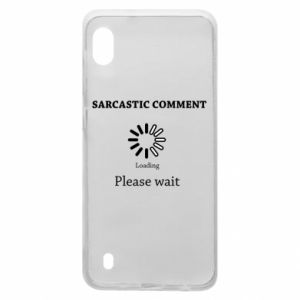 Etui na Samsung A10 Sarcastic comment