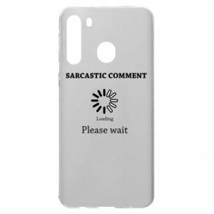 Etui na Samsung A21 Sarcastic comment
