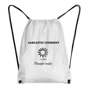 Plecak-worek Sarcastic comment