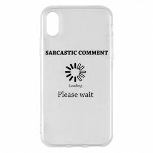 Etui na iPhone X/Xs Sarcastic comment