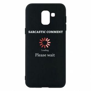 Etui na Samsung J6 Sarcastic comment