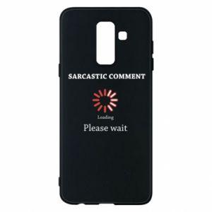 Etui na Samsung A6+ 2018 Sarcastic comment