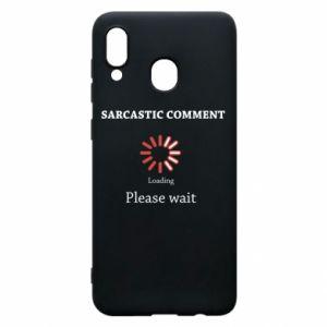 Etui na Samsung A20 Sarcastic comment