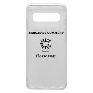 Etui na Samsung S10 Sarcastic comment