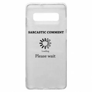 Etui na Samsung S10+ Sarcastic comment