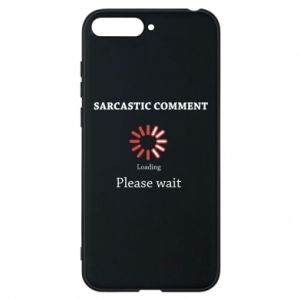 Etui na Huawei Y6 2018 Sarcastic comment