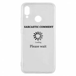 Etui na Huawei P20 Lite Sarcastic comment