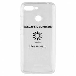 Etui na Xiaomi Redmi 6 Sarcastic comment