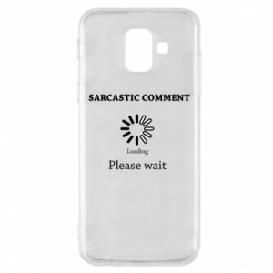Etui na Samsung A6 2018 Sarcastic comment