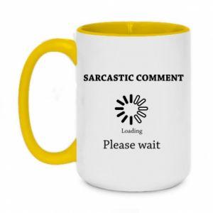 Kubek dwukolorowy 450ml Sarcastic comment