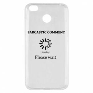 Etui na Xiaomi Redmi 4X Sarcastic comment