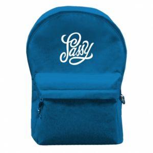 Plecak z przednią kieszenią Sassy