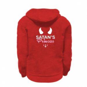Kid's zipped hoodie % print% Satan's princess