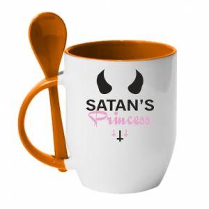 Kubek z ceramiczną łyżeczką Satan's princess