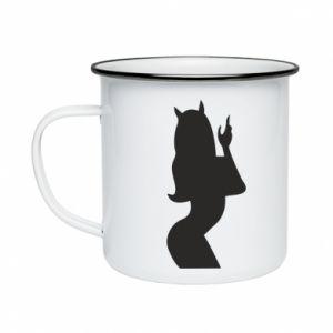 Enameled mug Satan - PrintSalon