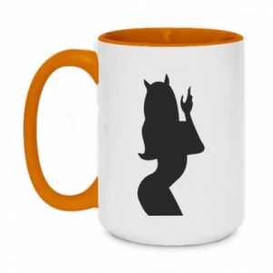 Two-toned mug 450ml Satan