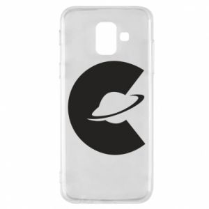 Phone case for Samsung A6 2018 Saturn in the shade - PrintSalon