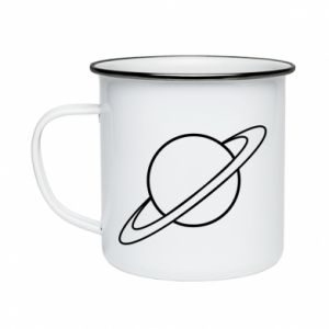 Enameled mug Saturn