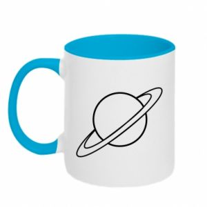 Two-toned mug Saturn