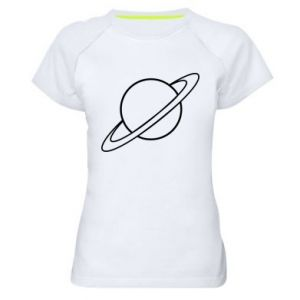 Women's sports t-shirt Saturn