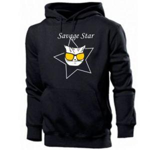 Męska bluza z kapturem Savage star