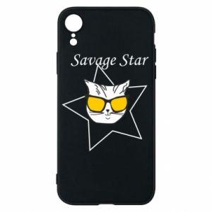 Etui na iPhone XR Savage star