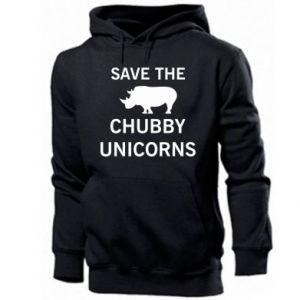 Męska bluza z kapturem Save the chubby unicorns