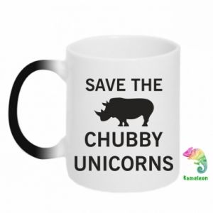 Kubek-kameleon Save the chubby unicorns