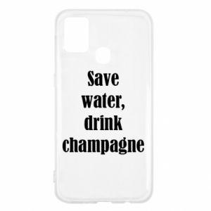 Samsung M31 Case Save water, drink champagne