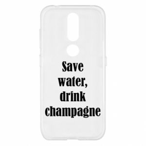Nokia 4.2 Case Save water, drink champagne