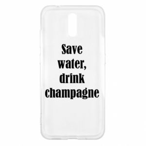 Nokia 2.3 Case Save water, drink champagne