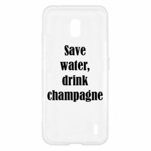 Nokia 2.2 Case Save water, drink champagne