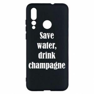 Huawei Nova 4 Case Save water, drink champagne