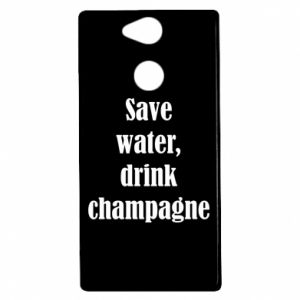 Sony Xperia XA2 Case Save water, drink champagne