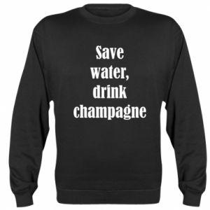 Bluza (raglan) Save water, drink champagne