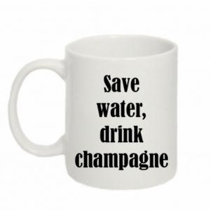 Kubek 330ml Save water, drink champagne