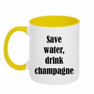 Kubek dwukolorowy Save water, drink champagne